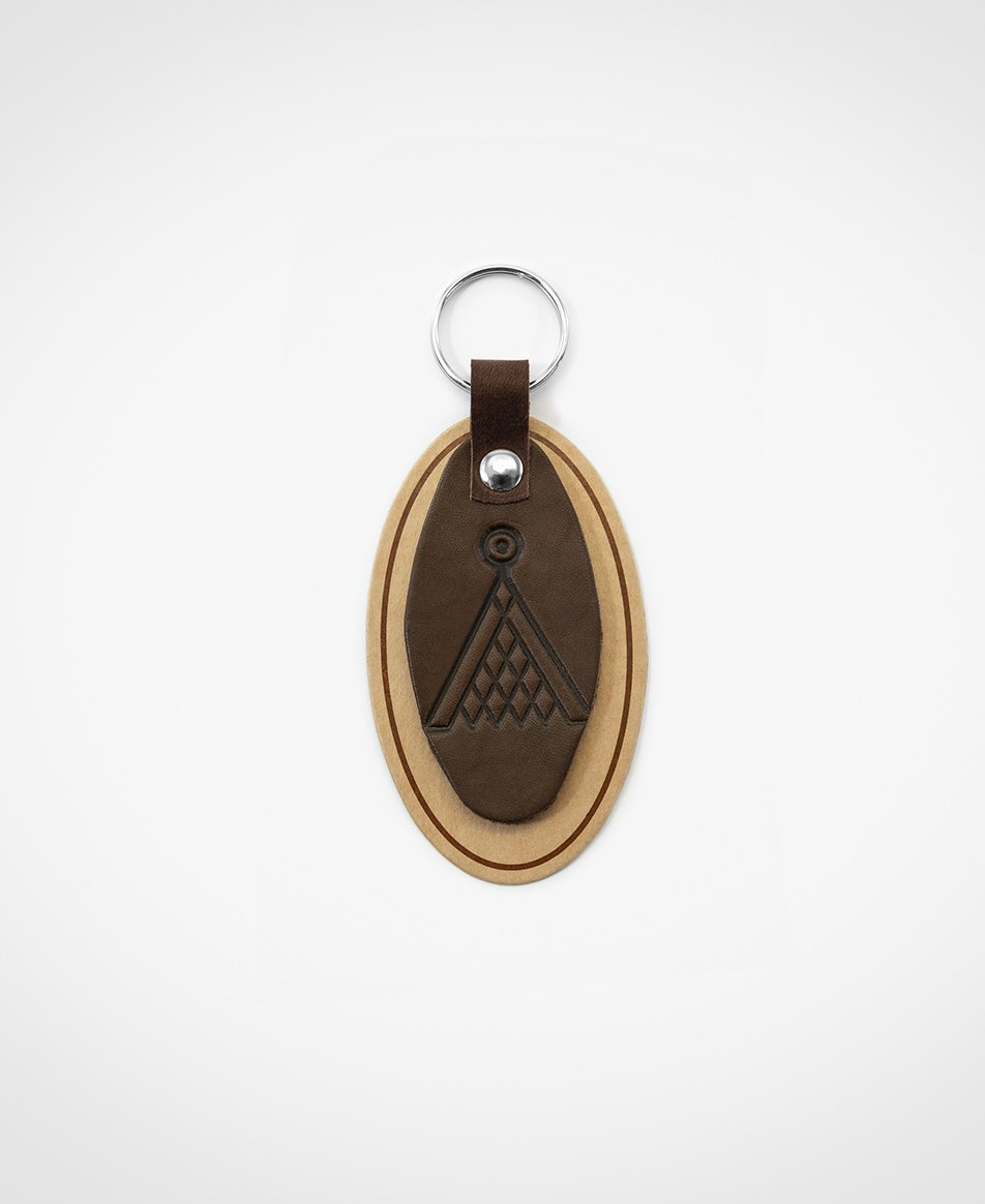 Atslēgu piekariņš brūnā krāsā