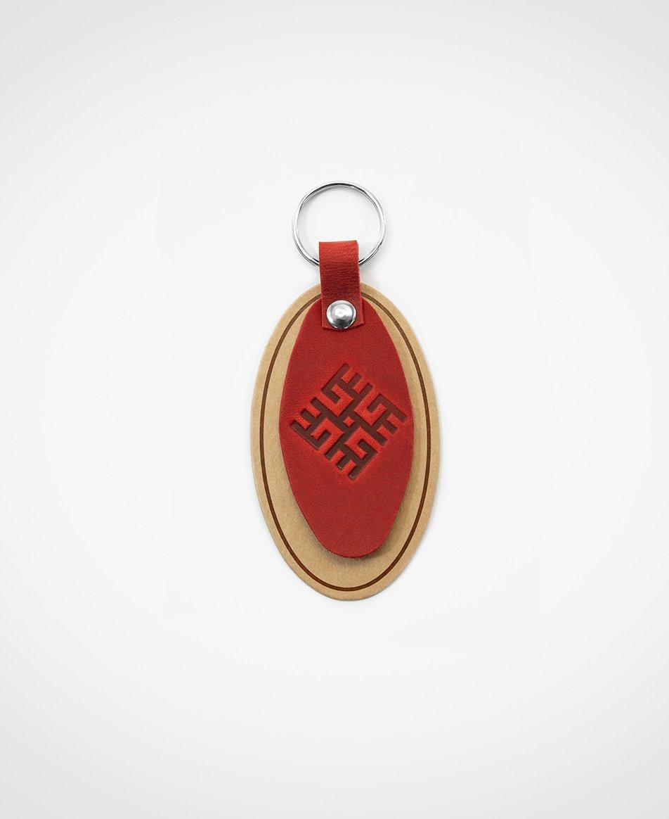 Atslēgu piekariņš sarkanā krāsā