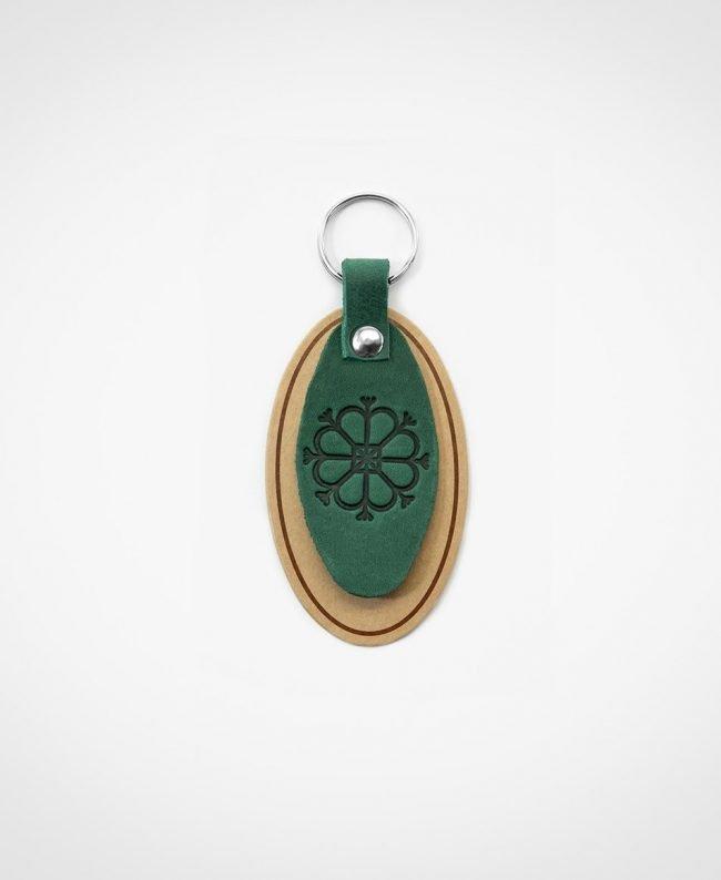 Atslēgu piekariņš zaļā krāsā