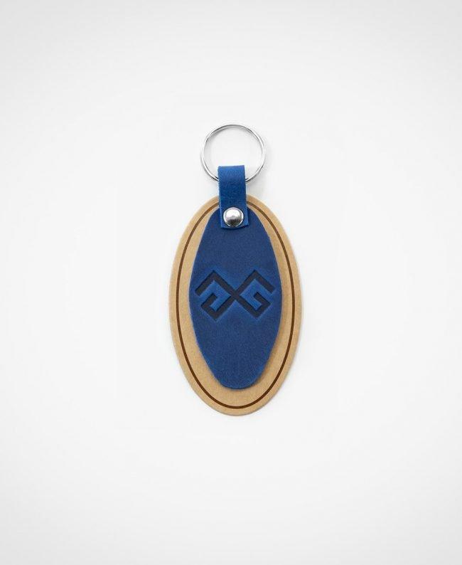 Atslēgu piekariņš zilā krāsā
