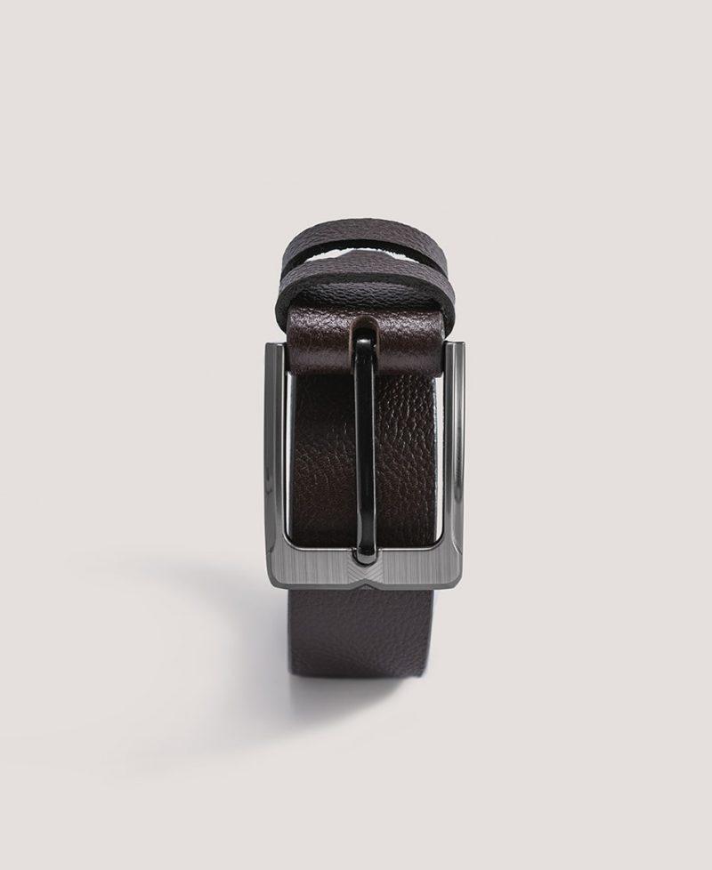 Ādas Josta ar Izteiktu Reljefu 35mm Brūna